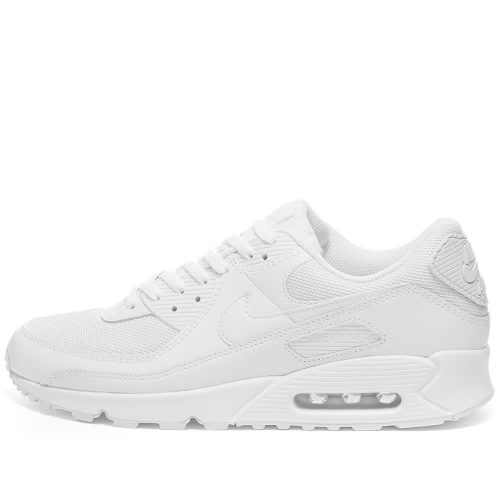 Mens Nike Air Max 90 Trainers in White & Wolf Grey