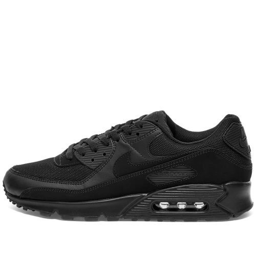 Mens Nike Air Max 90 Trainers in All Black