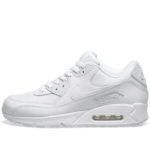 Mens Nike Air Max 90 Essential Trainers in All White