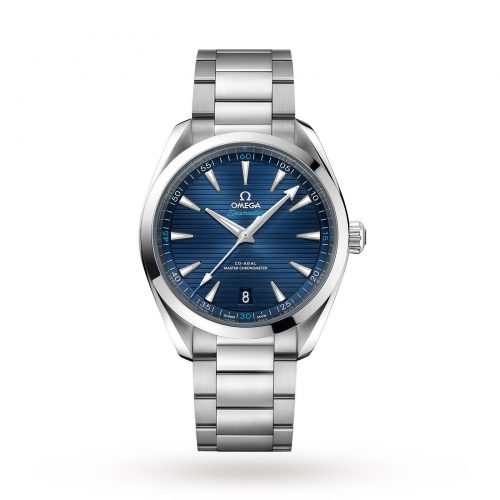 Mens Omega Seamaster Aqua Terra 150m Co-Axial 41mm Watch in Blue Sun-brushed