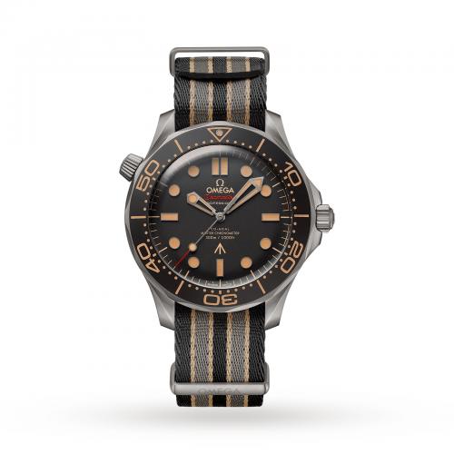 Mens Omega Seamaster Diver 300m James Bond 007 2020 Edition Watch in Black