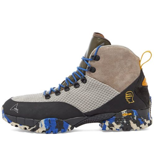 Mens ROA x Brain Dead Andreas Hiking Boot in Blue & Black Camo