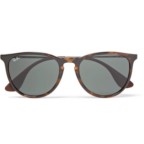 Mens Ray-Ban Erika Round-frame Acetate Sunglasses in Tortoiseshell