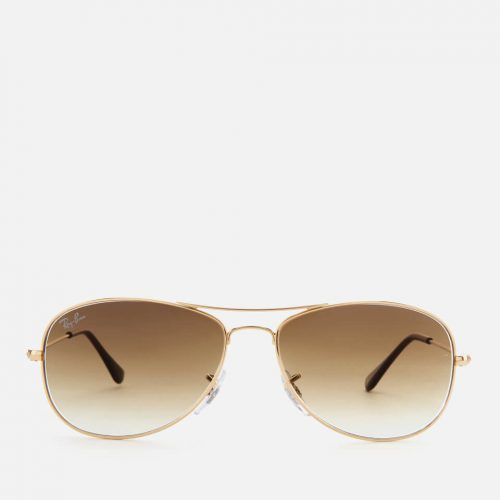Mens Ray-Ban Cockpit Metal Frame Sunglasses in Arista Gold