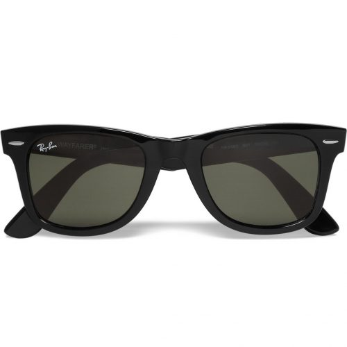 Mens Ray-Ban Original Wayfarer Acetate Sunglasses in Black