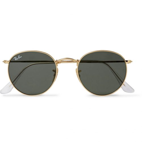 MensRay-Ban Round-frame Gold-tone Sunglasses in Gold