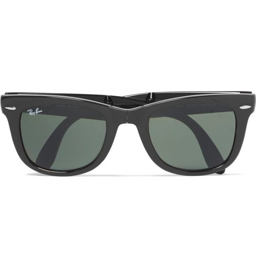 Mens Ray-Ban Wayfarer Folding Acetate Sunglasses in Black