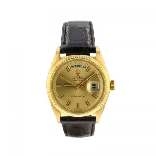 Mens Rolex 1966 Pre-owned Day-Date 36mm 18kt Yellow Gold Watch in Gold