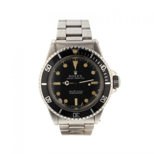 Mens Rolex 1972 Pre-owned Submariner 40mm Stainless Steel Watch in Black