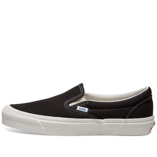 Mens Vans Vault OG Classic Slip On LX Sneakers in Black