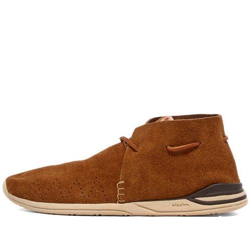 Mens Visvim Huron Moc-Folk Sneakers in Camel Brown