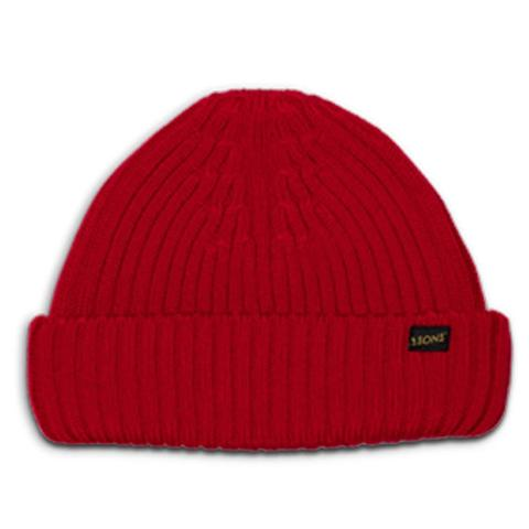 Mens &SONS Atlantic Watch Cap Wool Beanie in Red