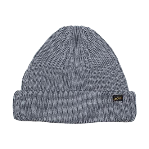 Mens &SONS Atlantic Watch Cap Beanie in Uniform Grey