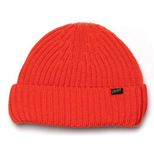Mens &SONS Trading Co Atlantic Watch Cap Beanie in Bright Orange