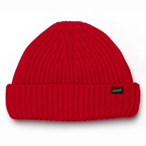 Mens &SONS Trading Co Atlantic Watch Cap Beanie in Poppy Red