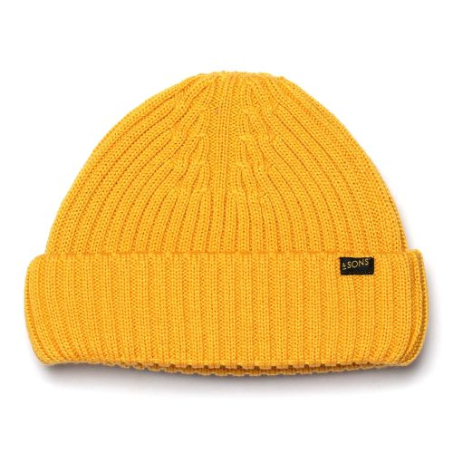 Mens &SONS Trading Co Atlantic Watch Cap Beanie in Sun Yellow