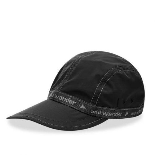 Mens And Wander Jq Tape Cap in Black
