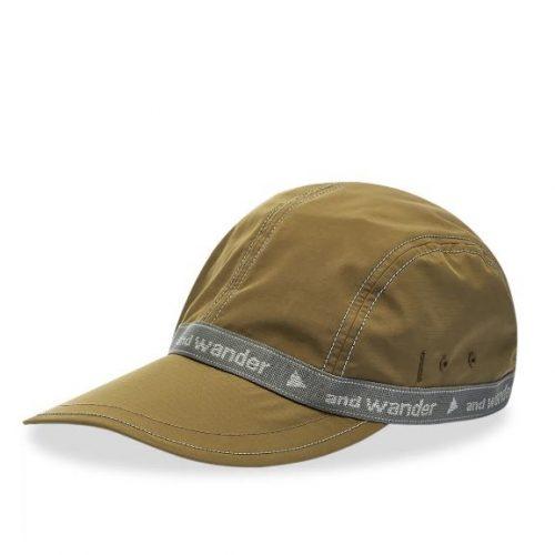 MensAnd Wander Jq Tape Cap in Khaki