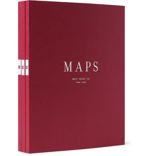 Mens Best Made Company The Map Notebooks Set in Red