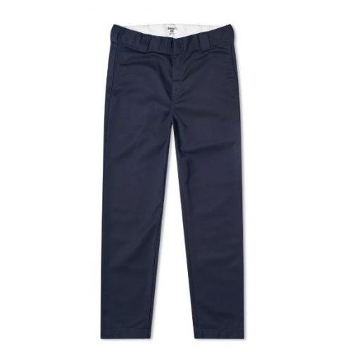 Mens Carhartt WIP Master Pant Trousers in Dark Navy