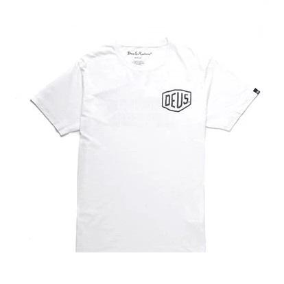 Mens Deus Tokyo Address T-Shirt in White