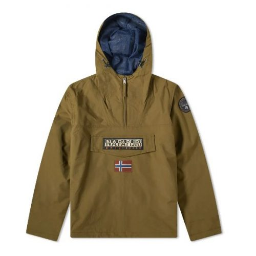 Mens Napapijri Rainforest Summer Anorak Jacket in Olive