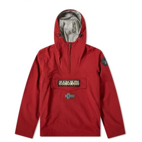 Mens Napapijri Rainforest Summer Anorak Jacket in Red