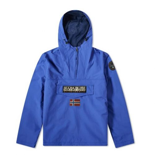 Mens Napapijri Rainforest Summer Anorak Jacket in Ultramarine Blue