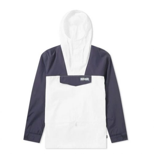 Mens Napapijri Skidoo S Tribe Jacket in Navy & White
