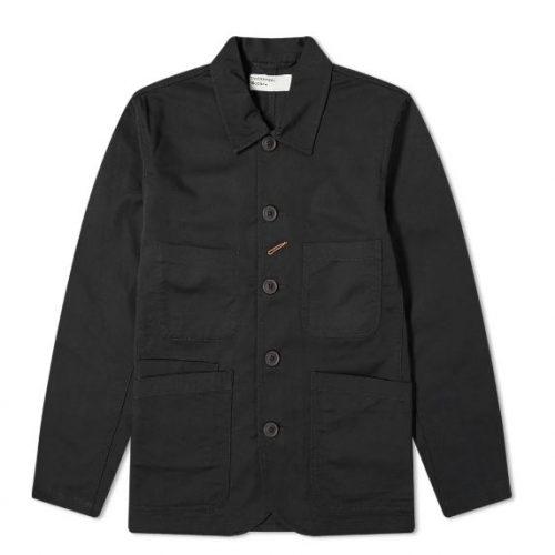Mens Universal Works Bakers Jacket in Black