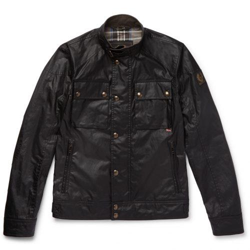MensBelstaff Racemaster Waxed-cotton Jacket in Black