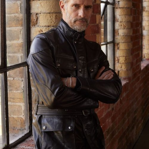MensBelstaff Trialmaster Panther 2.0 Jacket in Black Leather
