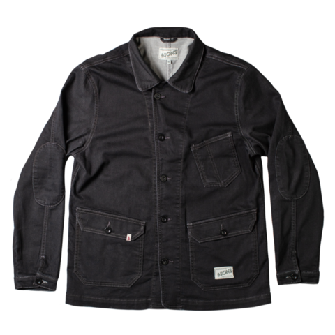 Mens &SONS Carver II Chore Jacket in Black