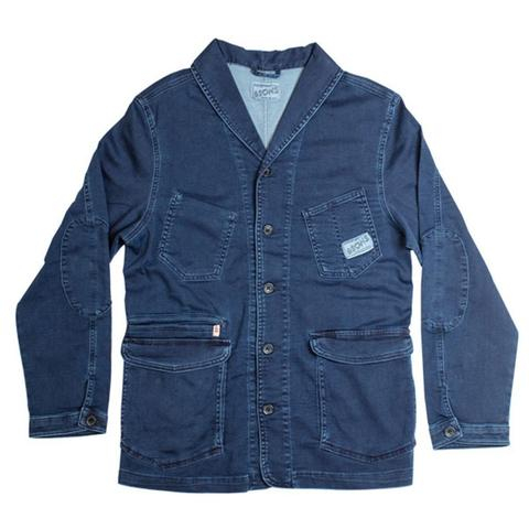 Mens &SONS Crafter II Chore Jacket in Blue Indigo Denim