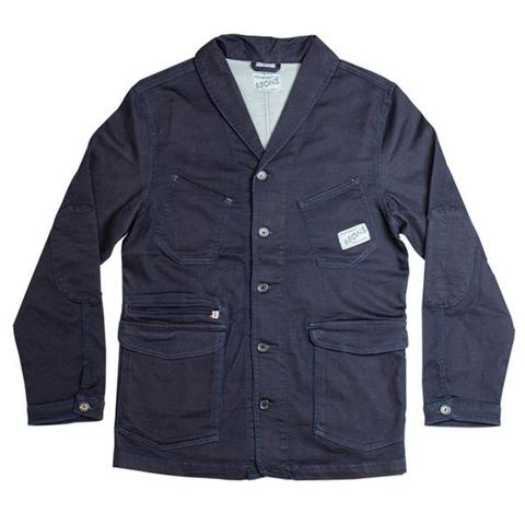 Mens &SONS Crafter II Chore Jacket in Raw Navy Denim