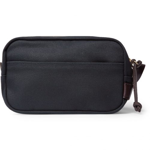 Mens Filson Leather-trimmed Cotton-canvas Wash Bag in Blue