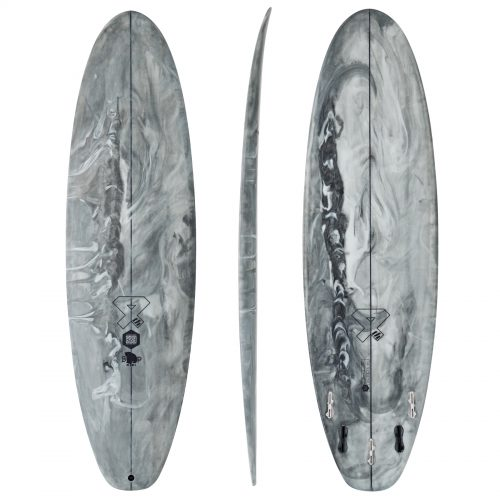 Mens Fourth Surfboards BP Mini ESE Construction FCS II 5 Fin Surfboard in Marbled Grey