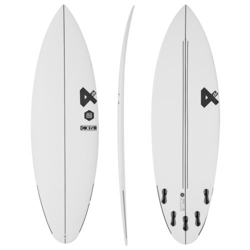 Mens Fourth Surfboards Doofer ESE Construction FCS II 5 Fin Surfboard in White & Black