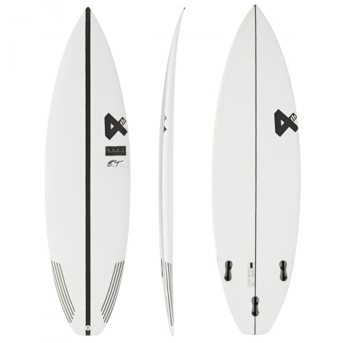 Mens Fourth Surfboards E.T. Fresh Base Construction FCS II 3 Fin Surfboard in White & Black