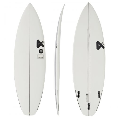 Mens Fourth Surfboards Five Nine ESE Construction FCS II Thruster Surfboard in White & Black