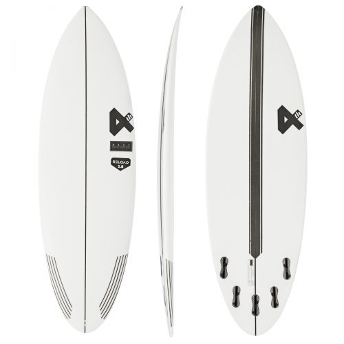 Mens Fourth Surfboards Reload 2.0 Base Construction FCS II 5 Fin Surfboard in White & Black