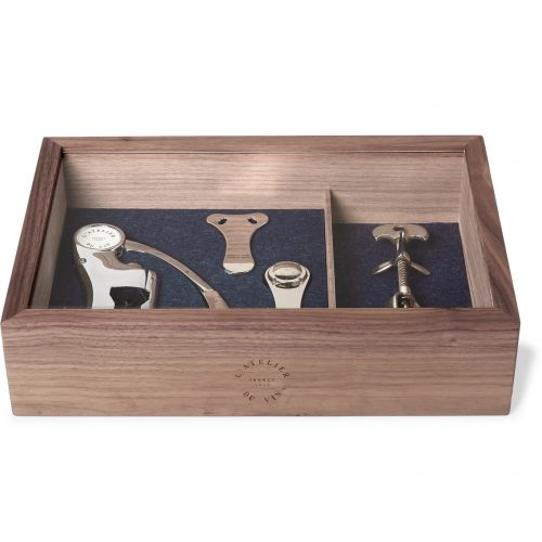 Mens L'Atelier du Vin Le Collectionneur 2 Wine Set in Silver