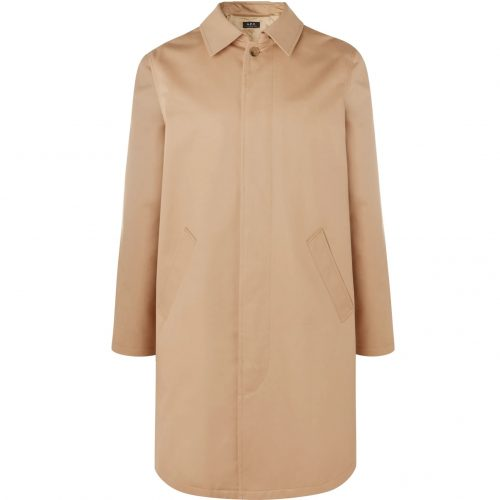 Mens A.P.C. Cotton-twill Trench Coat in Beige