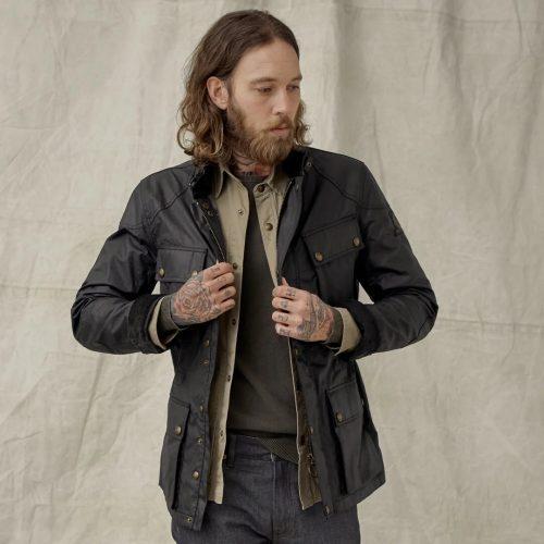 MensBelstaff Fieldmaster Jacket in Black