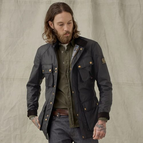 MensBelstaff Trialmaster Jacket in Black