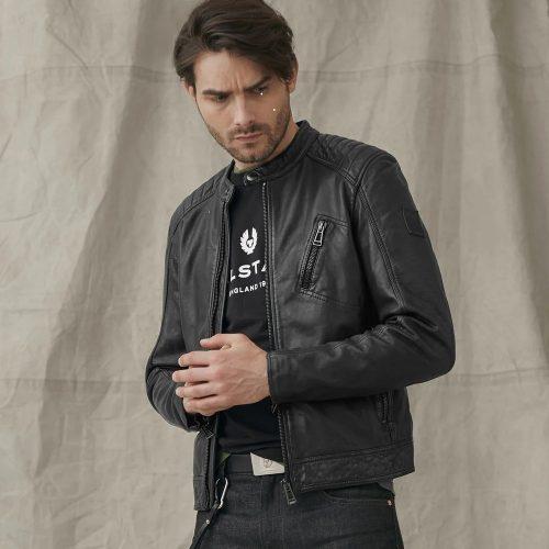 MensBelstaff V Racer 2.0 Leather Jacket in Black