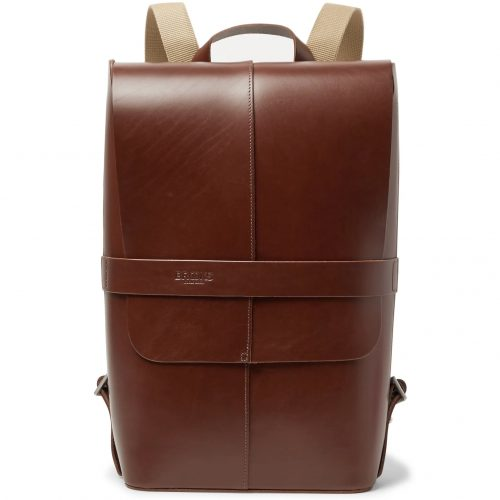 Mens Brooks England Piccadilly Vegetable-tanned Leather Backpack in Brown