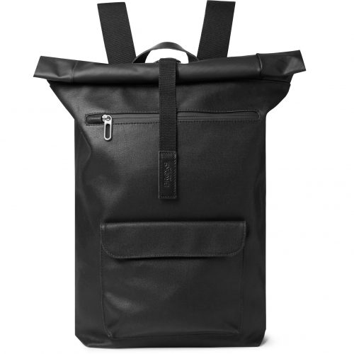 Mens Brooks England Rivington Leather-trimmed Coated Cotton-canvas Backpack in Black