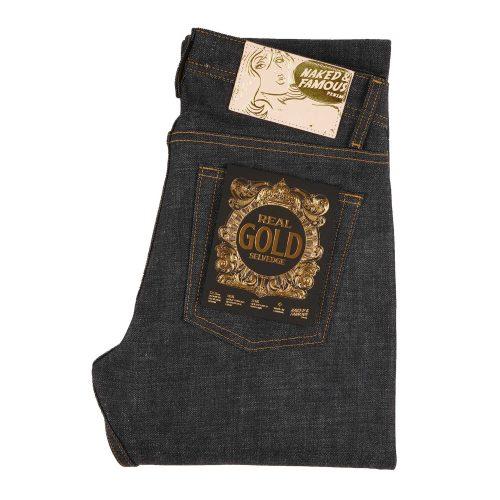 MensNaked and Famous Denim Easy Guy Real Gold Selvedge Denim Jeans in Indigo