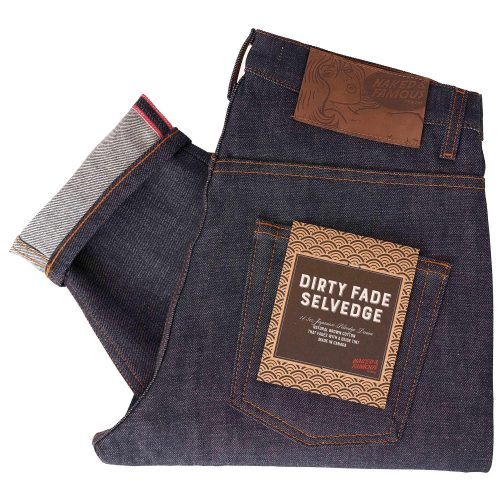 Mens Naked and Famous Denim Easy Guy Dirty Fade Selvedge Jeans in Indigo